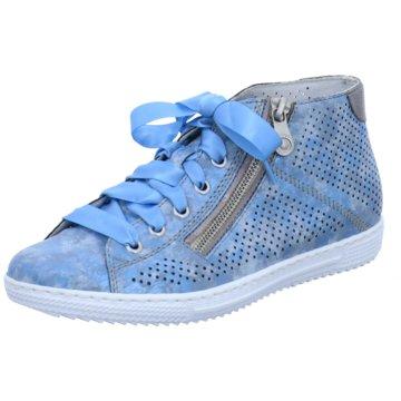 Rieker Komfort Stiefelette blau