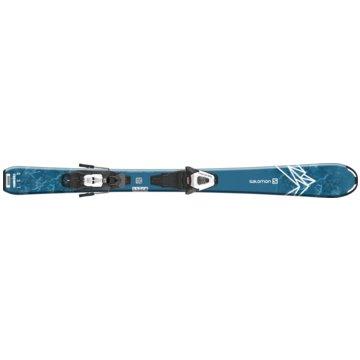 Salomon All-Mountain SkiALP. SKI SET L QST MAX JR S + C5 GW - L40891300120 blau