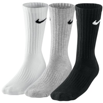 Nike Hohe Socken3PPK Cotton Crew Sock schwarz