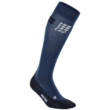 CEP KniestrümpfeProgressive+ Run Merino Socks Women blau