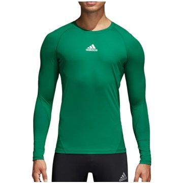 adidas LangarmshirtAlphaskin Sport LS Tee grün