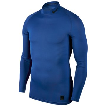 Nike SweaterPro Compression Mock LS Top blau