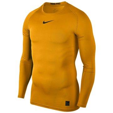 Nike SweaterPro Compression LS Top gelb