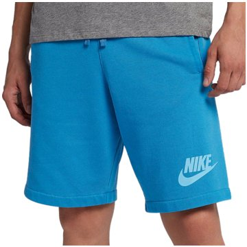 Nike HerrenWashed FT Short blau