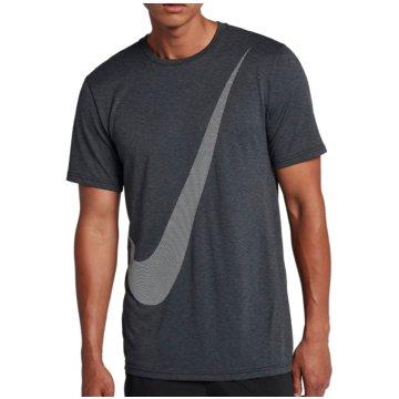 Nike HerrenBreathe Training Logo SS Top grau