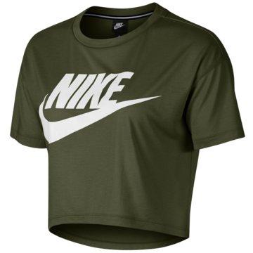 Nike DamenEssential Top Crop SS Women oliv