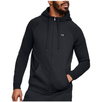 Under Armour HoodiesRIVAL FLEECE FZ HOODIE - 1320737 schwarz