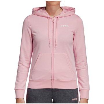 adidas HoodiesEssentials Solid Full Zip Hoodie Women rosa