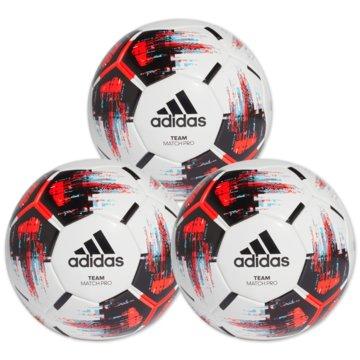 adidas BälleTeam Match Ball 3er Ballpaket weiß