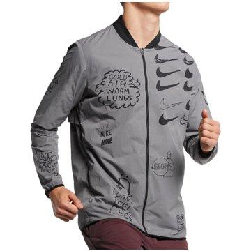 Nike LaufjackenNathan Bell Run Print Jacket grau