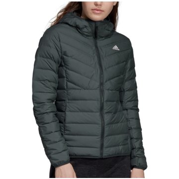 adidas FunktionsjackenVarilite 3-Stripes Hooded Down Jacket Women grau