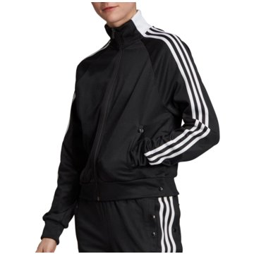 adidas ÜbergangsjackenID 3-Stripes Snap Tracktop Women schwarz