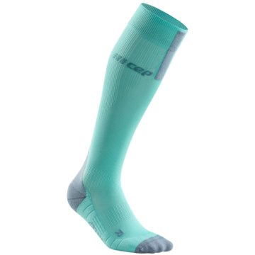 CEP Kniestrümpfe RUN SOCKS 3.0, BLUE/GREY, WOMEN - WP40X türkis