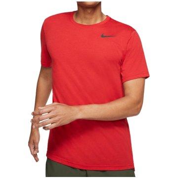 Nike T-ShirtsNIKE DRI-FIT BREATHE MEN'S SHORT-SL - AJ8002 rot