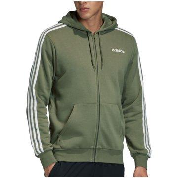 adidas HoodiesEssentials 3S FZ Hoody Fleece grün