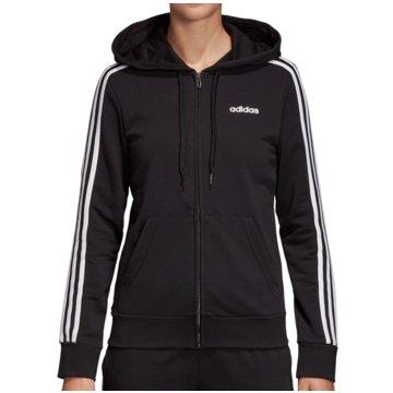 adidas HoodiesEssentials 3 Stripes Full Zip Hoodie Women schwarz