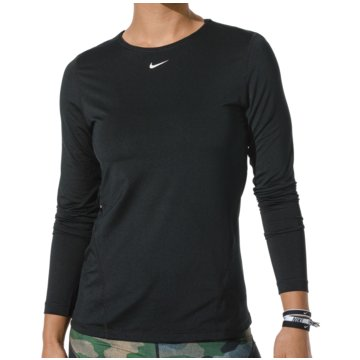 Nike SweatshirtsNIKE PRO WOMEN'S LONG-SLEEVE MESH T - AO9949 schwarz