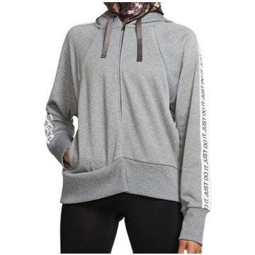 Nike SweatshirtsW NK DRY FLC GET FIT HD FZ JDI - BV5041 grau