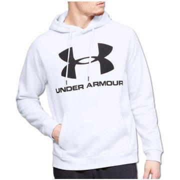 Under Armour SweatshirtsColdGear Rival Fleece Logo Hoodie weiß