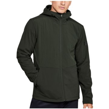 Under Armour TrainingsjackenColdGear Reactor Gametime Hybrid Jacket grün