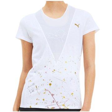 Puma T-ShirtsMetal Splash Deep V Training Tee Women weiß