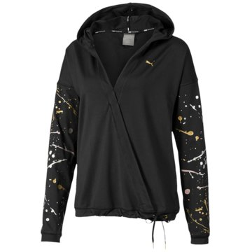 Puma PulloverMetal Splash Lux Wrap Training Hoodie Women schwarz
