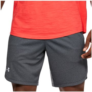 Under Armour kurze Sporthosen PERFORMANCE TRAININGSSHORTS AUS STRICK - 1351641 grau
