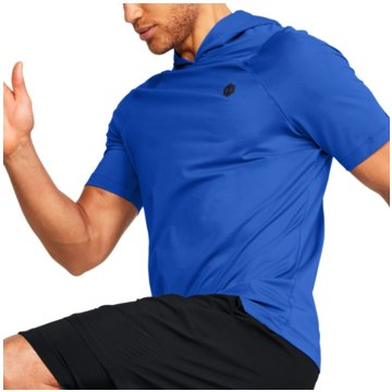 Under Armour FunktionsshirtsRush SS Fitted Hoodie blau