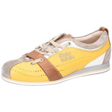 Kamo-Gutsu Komfort Schnürschuh gelb