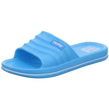 Schuhwerk Badelatsche blau