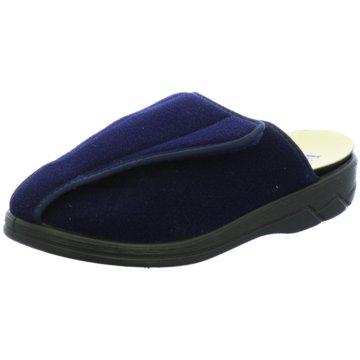 Florett Hausschuh blau