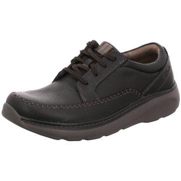 Clarks Komfort SchnürschuhSneaker schwarz