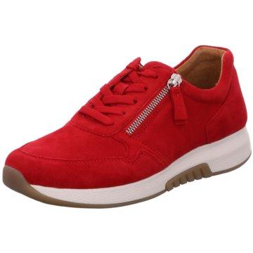 Gabor comfort Sportlicher SchnürschuhSneaker rot