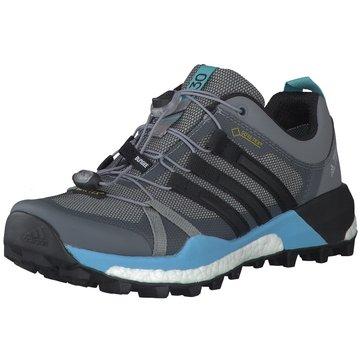 adidas TrailrunningTerrex Skychaser GTX Damen Outdoorschuhe Trail-Running grau blau grau