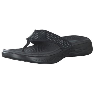Skechers Bade-Zehentrenner schwarz