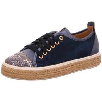 Alpe Woman Shoes Espadrilles Schnürschuhe blau