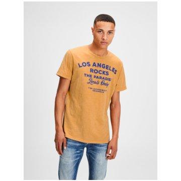 Jack & Jones T-Shirts print gelb