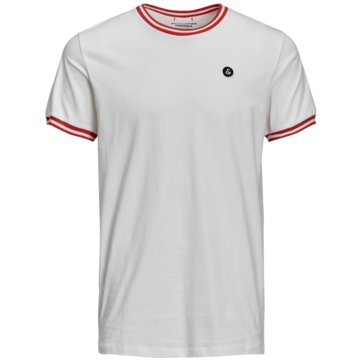 Jack & Jones T-Shirts basic weiß
