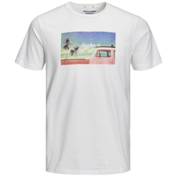 Jack & Jones T-Shirts print weiß