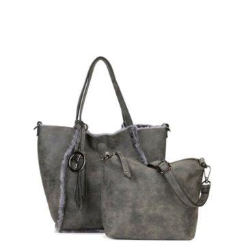 Suri Frey Taschen DamenWendetasche Fell grau