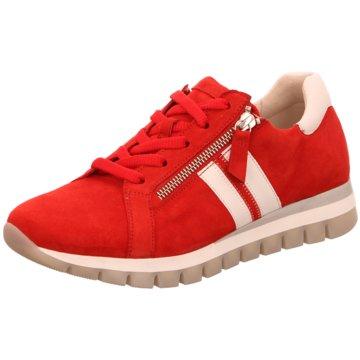 Gabor Sportlicher Schnürschuh rot