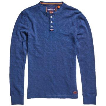 Superdry Langarmshirt blau