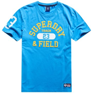 Superdry T-Shirts basic blau
