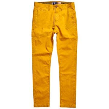 Superdry Klassische Stoffhosen gelb