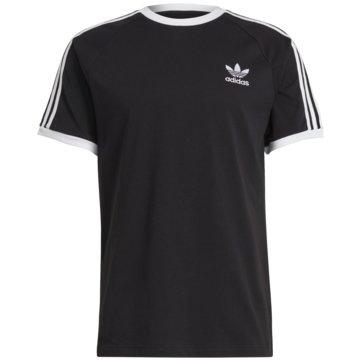 adidas T-Shirts basic3-STRIPES TEE schwarz