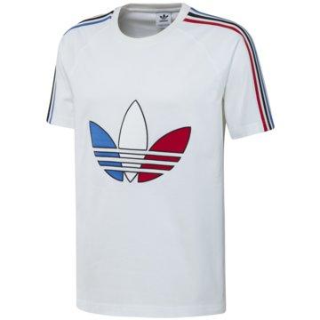 adidas T-Shirts basic weiß