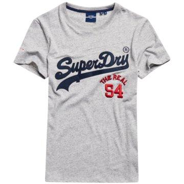 Superdry T-Shirts print grau