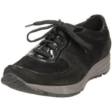 Waldläufer Komfort Schnürschuh schwarz
