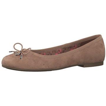 Klassisch TAMARIS Damen Schuhe Klassische Ballerinas Gold