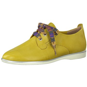 Tamaris Klassischer Schnürschuh gelb